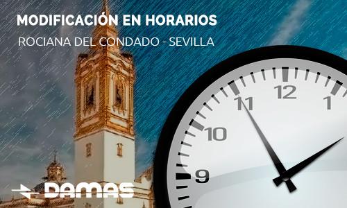 Suspensión horarios Rociana del Condado-Sevilla